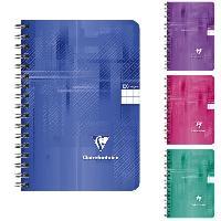 Papier - Cahier - Carnet CLAIREFONTAINE - Carnet reliure intégrale - 9 x 14 - 100 pages 5 x 5 - Couverture pellicukée - 4 couleurs aléatoires