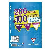 Papier - Cahier - Carnet CLAIREFONTAINE - Feuilles simples blanches - Perforées - 21 x 29.7 - 300 pages Seyes - Papier P.E.F.C 90G