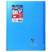 Papier - Cahier - Carnet CLAIREFONTAINE Koverbook Cahier piqure 96 pages avec rabats - 240 x 320 mm - 5 x 5 papier PEFC 90 g - Bleu