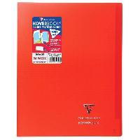Papier - Cahier - Carnet CLAIREFONTAINE Koverbook Cahier piqure 96 pages avec rabats - 240 x 320 mm - 5 x 5 papier PEFC 90 g - Rouge