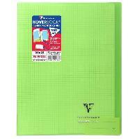 Papier - Cahier - Carnet CLAIREFONTAINE Koverbook Cahier piqure 96 pages avec rabats - 240 x 320 mm - 5 x 5 papier PEFC 90 g - Vert
