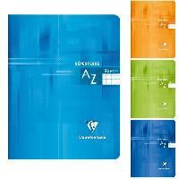Papier - Cahier - Carnet CLAIREFONTAINE Repertoire piqure 170x220 96 pages 90g - Couverture pelliculee 4 couleurs assorties