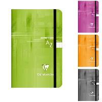 Papier - Cahier - Carnet CLAIREFONTAINE Repertoire piqure a elastique 110x170 96 pages 5x5 papier 90g - Couverture pelliculee 4 couleurs assorties