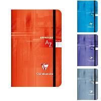 Papier - Cahier - Carnet CLAIREFONTAINE Repertoire piqure a elastique 110x170 96 pages 90g - Couverture pelliculee 4 couleurs assorties