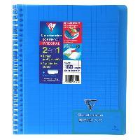 Papier - Cahier - Carnet Cahier reliure avec rabats KOVERBOOK - 17 x 22 - 160 pages Seyes - Couverture polyproplylene translucide - Bleu