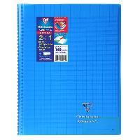 Papier - Cahier - Carnet Cahier reliure avec rabats KOVERBOOK - 21 x 29.7 - 160 pages Seyes - Couverture polyproplylene translucide - Bleu