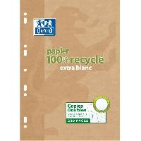 Papier - Cahier - Carnet Copies doubles OXFORD perfore a4 etui 200p 90g seyes recycle