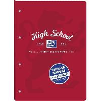 Papier - Cahier - Carnet Feuillets mobiles detachable OXFORD high school perfores a4 200p 90g