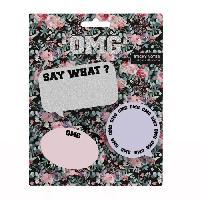 Papier - Cahier - Carnet OMG Notes autocollantes - 3 pieces - 30 pages - Mix - Aucune