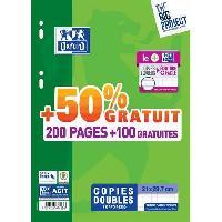 Papier - Cahier - Carnet OXFORD - Copies doubles perforées 300 pages seyes - 90g