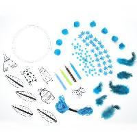 Papier - Cahier - Carnet PLUME CREATIVE Création attrape-reves DIY - Bleu - Aucune