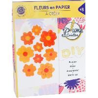 Papier - Cahier - Carnet PLUME CREATIVE Création fleur en papier - Orange et jaune - Aucune