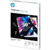 Papier - Cahier - Carnet Papier HP professionnel pour imprimantes laser. ou jet d'encre ? 150 feuilles. A4. glace. 180 g-m2 -3VK91A-