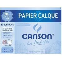 Papier - Cahier - Carnet Pochette calque satin + pastilles - 24 x 32 cm - 70g - 12 feuilles