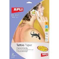 Papier - Cahier - Carnet Pochette de 2 Feuilles de Papier - Pour tatouage