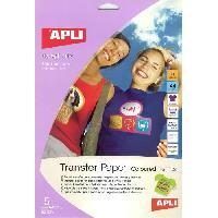 Papier - Cahier - Carnet Pochette de 5 Feuilles de Papier de transfert - Pour t-shirt de couleur