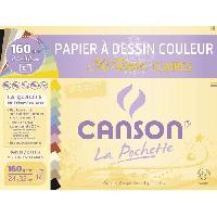Papier - Cahier - Carnet Pochette papier dessin Mi-Teinte - 24 x 32 cm - 160g - 12 feuilles - Couleurs claires