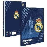 Papier - Cahier - Carnet REAL MADRID Cahier de Texte 193RMA102STD - Lundi au samedi - Couverture cartonnée souple - Papier PEFC Imprim'vert - 15 x 21 cm - Aucune