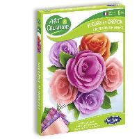 Papier - Cahier - Carnet SENTOSPHERE Fleurs en Crépon Roses - Pour Enfant