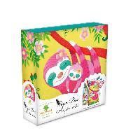 Papier - Cahier - Carnet SYCOMORE - Paper Box - Kit de papeterie pour enfants - Mes jolies secrets - Paresseux - Petit Modele - Des 7 ans