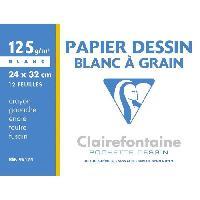 Papier A Dessin Pochette-s- dessin papier a grain Blanc 240 x 320 - 12 Feuilles - 125 g