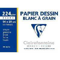 Papier A Dessin Pochette-s- dessin papier a grain Blanc 240 x 320 - 12 Feuilles 224 g