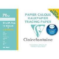Papier A Dessin Pochette-s- dessin papier calque 21x29.7 12 feuilles 70-75g