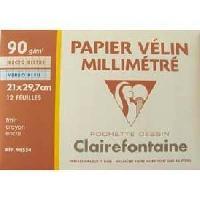 Papier A Dessin Pochette dessin papier millimetre Bistrebleue 210x297 12 feuilles 90g