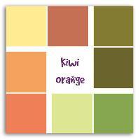 Papier Creatif - Aquarelle - Banane - Chanvre - Du Monde - Fait-main - Foscari 20 Feuilles Cartonnees Sorbet Kiwi Orange - 30x30 cm