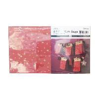 Papier Creatif - Aquarelle - Banane - Chanvre - Du Monde - Fait-main - Foscari 24 pieces de Sachet Originale pour Noel special calendrier de l'Avent - Rouge