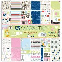 Papier Creatif - Aquarelle - Banane - Chanvre - Du Monde - Fait-main - Foscari Lot de 6 papiers recto verso - 30x30 - Be connected