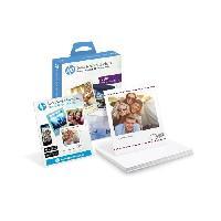 Papier Imprimante - Ramette - Rouleau HP Papier photo adhésif W2G60A - Social Media Snapshots amovible - 25 feuilles - 10 x 13 cm