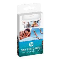 Papier Imprimante - Ramette - Rouleau Papier Photo adhesif HP ZINK. 20 feuilles. 5 x 7.6-cm -2 x 3-inch-