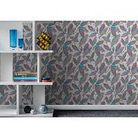 Papier Peint - Revetement Mural (fibre De Verre - Frise - Revetement Adhesif) MGC DECO Papier peint deco - 10x0.53 m - Gris Aucune