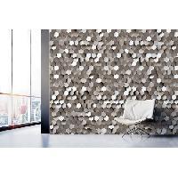 Papier Peint - Revetement Mural (fibre De Verre - Frise - Revetement Adhesif) MGC DECO Papier peint deco - 8.40x0.53 m - Gris Aucune