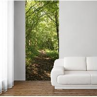 Papier Peint - Revetement Mural (fibre De Verre - Frise - Revetement Adhesif) Panneau en intisse Panoramique - Balade en foret240x98cm