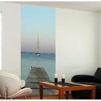 Papier Peint - Revetement Mural (fibre De Verre - Frise - Revetement Adhesif) Panneau en intisse Panoramique - Ponton240x98cm