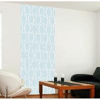 Papier Peint - Revetement Mural (fibre De Verre - Frise - Revetement Adhesif) Panneau en intisse Panoramique - Sienna bleu240x98cm