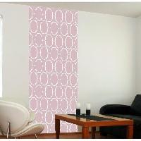 Papier Peint - Revetement Mural (fibre De Verre - Frise - Revetement Adhesif) Panneau en intisse Panoramique - Sienna rose240x98cm