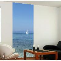 Papier Peint - Revetement Mural (fibre De Verre - Frise - Revetement Adhesif) Panneau en intisse Panoramique - Voilier240x98cm