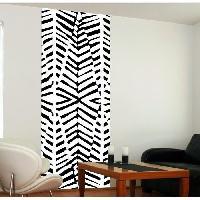 Papier Peint - Revetement Mural (fibre De Verre - Frise - Revetement Adhesif) Panneau en intisse Panoramique - Zebrure240x98cm