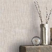 Papier Peint - Revetement Mural (fibre De Verre - Frise - Revetement Adhesif) Papier Peint Support Intisse Vagues Taupes 10 m x 52 cm Easy Aucune