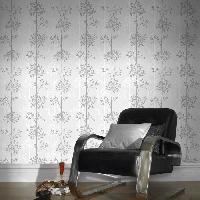 Papier Peint - Revetement Mural (fibre De Verre - Frise - Revetement Adhesif) SUPERFRESCO EASY Papier peint support intisse Domaniale vinyle - 1005 x 52 cm - Gris