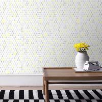 Papier Peint - Revetement Mural (fibre De Verre - Frise - Revetement Adhesif) SUPERFRESCO Papier peint support papier Goutte vinyle graine - 1005 x 52 cm - Bleu et jaune