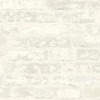 Papier Peint - Revetement Mural (fibre De Verre - Frise - Revetement Adhesif) Sticker papier peint adhesif repositionnable brique - Blanc