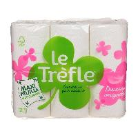 Papier Toilette LE TREFLE Papier toilette Maxi Feuille - 12 Rouleaux