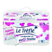 Papier Toilette LE TREFLE Papier toilette Maxi Feuille Absolu bien-etre x12