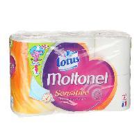 Papier Toilette Lot de 3 papiers hygieniques Lotus sensitive aquatube - x6 rouleaux