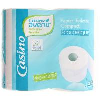 Papiers CASINO ECO. Papier Hygiénique Compact 4=12