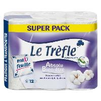 Papiers LE TREFLE Lot de 6 Papier toilette Bien etre - Maxi feuille